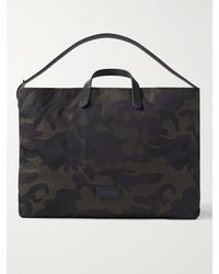 Mismo Haven Leather-trimmed Camouflage-jacquard Tote Bag - Green