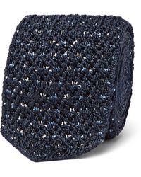 Ermenegildo Zegna - 6cm Knitted Silk Tie - Lyst