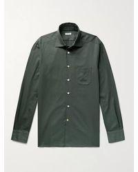 Kiton - Cotton-twill Shirt - Lyst