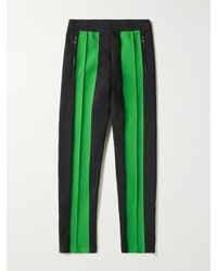 Bottega Veneta Pleated Panelled Tech-jersey Track Trousers - Black