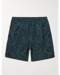 True Tribe Neat Steve Mid-length Iridescent Checked Econyl Swim Shorts - Blue
