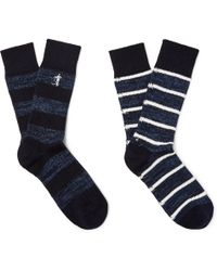 London Sock Co. - Two-pack Striped Cotton-blend Socks - Lyst