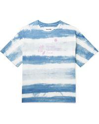 STORY mfg. Grateful Printed Tie-dyed Organic Cotton-jersey T-shirt - Blue