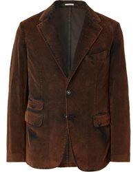 Massimo Alba Unstructured Cotton-corduroy Blazer - Brown