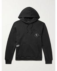 Haydenshapes Arsham Stampd Eroded Embellished Cotton-jersey Hoodie - Black