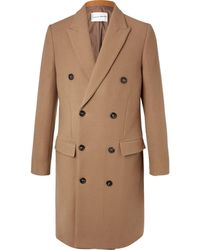 SALLE PRIVÉE Ives Double-breasted Wool-blend Overcoat - Brown