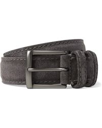 Andersons - 3.5cm Dark-grey Suede Belt - Lyst