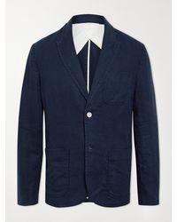 Alex Mill Mercer Linen Blazer - Blue