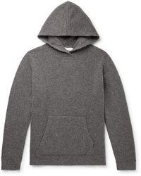 NN07 Mark Slim-fit Wool-blend Hoodie - Gray