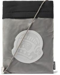 BBCICECREAM Logo-appliquéd Rubber-trimmed Shell Pouch - Black