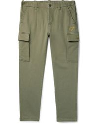 adidas Originals Human Made Slim-fit Tapered Logo-embroidered Cotton-blend Jersey Cargo Trousers - Green