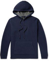 Alanui Intarsia Wool And Cashmere-blend Hoodie - Blue