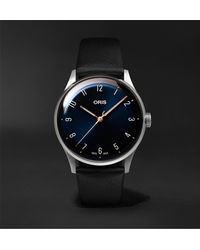 Oris James Morrison Academy Of Music Limited Edition Automatic 38mm Stainless Steel And Leather Watch, Ref. No. 01 733 7762 4085-set - Blue