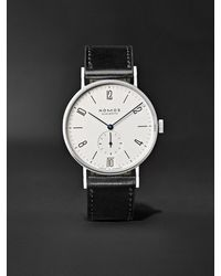 Nomos Glashütte Tangente 38mm Datum Stainless Steel And Leather Watch, Ref. No. 130 - White