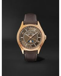 Vacheron Constantin Fiftysix Complete Calendar Automatic 40mm 18-karat Pink Gold And Leather Watch - Brown