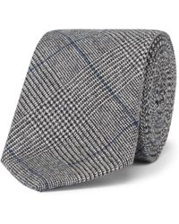 Hackett - 8cm Prince Of Wales Checked Wool Tie - Lyst