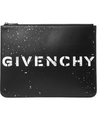 Givenchy - Logo-print Leather Pouch - Lyst