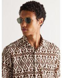 Cubitts Plimsoll Round-frame Gold-tone Titanium Sunglasses - Metallic