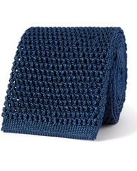 Tom Ford 7.5cm Knitted Silk Tie - Blue