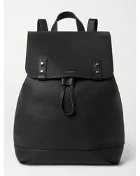 Saint Laurent Full-grain Leather Backpack - Black