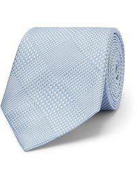 Richard James 7cm Prince Of Wales Checked Silk-jacquard Tie - Blue