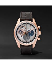Zenith - El Primero Chronomaster 42mm 1969 Rose Gold And Alligator Watch - Lyst