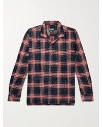 Gitman Brothers Vintage Camp-collar Checked Cotton-twill Shirt - Black