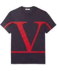 Valentino Vlogo T-shirt - Blue