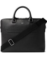 Dunhill Belgrave Full-grain Leather Briefcase - Black