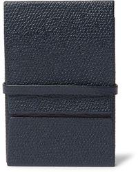 Valextra Full-grain Leather Cardholder - Blue