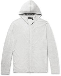 Theory Lievos Mélange Cashmere Zip-up Hoodie - Gray