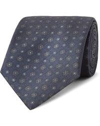 Brioni - 8cm Printed Textured-silk Tie - Lyst