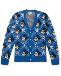Gucci Mickey Mouse Intarisa Knit Cardigan - Blue
