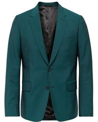 Paul Smith Soho Slim-fit Wool And Mohair-blend Suit Jacket - Green