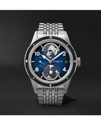 Montblanc 1858 Geosphere Automatic Gmt 42mm Titanium And Stainless Steel Watch, Ref. No. 125567 - Metallic