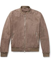 Hackett - Mayfair Suede Bomber Jacket - Lyst
