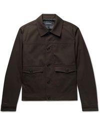 Club Monaco Cotton-blend Twill Chore Jacket - Brown