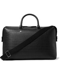 Mulberry City Weekender Croc-effect Leather Holdall - Black