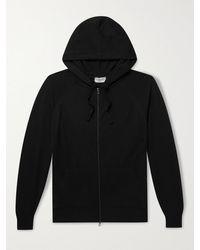 John Smedley Reservoir Merino Wool Zip-up Hoodie - Black