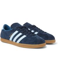 adidas Originals - Berlin Leather-trimmed Suede Trainers - Lyst