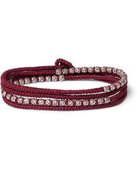 M. Cohen - Silver Cord Bracelet - Lyst