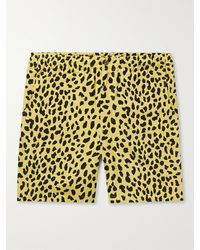 Wacko Maria Printed Woven Shorts - Yellow