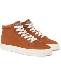 Brunello Cucinelli - Nubuck High-top Sneakers - Lyst