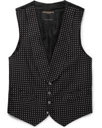 Favourbrook Polka-dot Silk-jacquard Waistcoat - Black