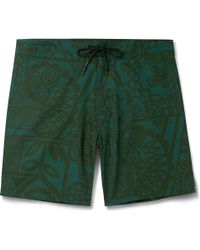Outerknown - Evolution Mid-length Printed Swim Shorts - Lyst