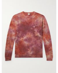 Massimo Alba Alagna Tie-dyed Cashmere Sweater - Red