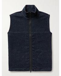 Oliver Spencer House Slim-fit Jersey Gilet - Blue