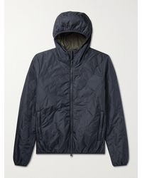 Aspesi Quilted Shell Jacket - Blue