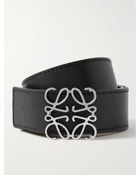 Loewe 3cm Reversible Leather Belt - Black