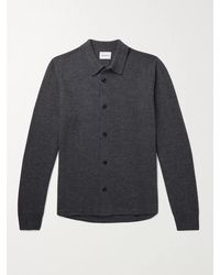 Norse Projects Martin Boiled Wool Cardigan - Grey